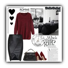 """""""Paris romwe"""" by danigrll ❤ liked on Polyvore featuring Bebe and Gianvito Rossi"""