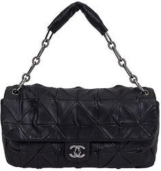 Chanel Maxi Black Origami Flap Bag - Vintage Lux 8cf66bbf77d6c