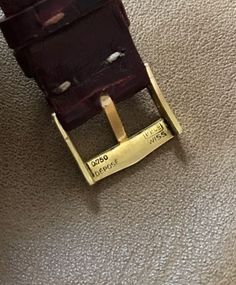 Rare-vintage-Patek-Philippe-Men-039-s-Watch-Strap-amp-18k-Gold-Tang-Buckle-20MM