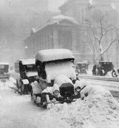 Snowstorm, New York City 1917