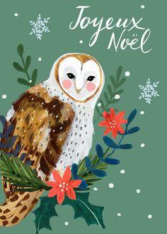 Christmas Owls, Christmas Images, Christmas Wrapping, Christmas Projects, Christmas Decorations, Xmas, Christmas Ornaments, Winter Illustration, Christmas Illustration