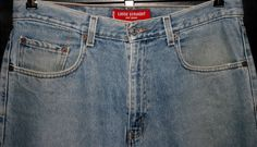 LEVI'S 569 RED TAB ZIPPER-FLY JEANS Men's(36x32-Actual)34x32-Tag Loose Straight #Levis #LooseStraight