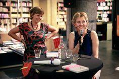 Ilse en Sylvia tijdens de lezing bij Selexyz Dominicanen Maastricht op 16 augustus 2012