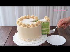 Pandan Cake with Gula Melaka Buttercream - YouTube Pandan Layer Cake, Pandan Chiffon Cake, Polish Recipes, Polish Food, Cotton Cake, Mug Cake Microwave, Cheesecake Cupcakes, Swiss Meringue Buttercream, Cake Fillings