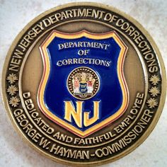 NJDOC challenge coin