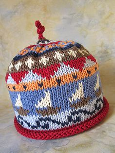 Sailor Boy Hat Knit Pattern by Mimi Kezer, $6 download on Ravelry.