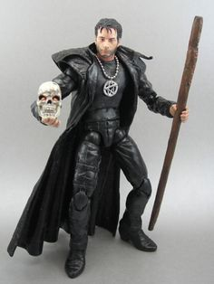 Harry Dresden doll with Bob.  I'd LOVE to know what figure this was based on!