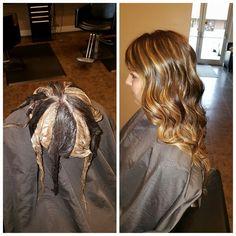 Pinwheel hair dye