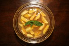 Mint-Infused Peach Kanten  (Macrobiotic, Vegan and Refined Sugar-free)