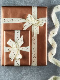 NEW Starry Foiled Ribbon - Copper