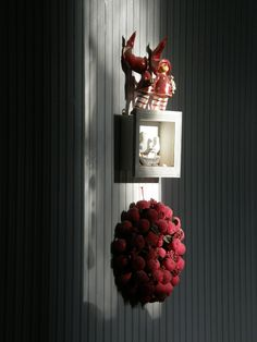Red and gray Yellow Cottage, Red And Grey, Red Wedding, Candle Sconces, My Photos, Wall Lights, Color Boards, Candles, Color Themes
