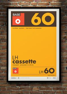 'Don't Forget the Cassette' series by Neil Stevens, via Behance.