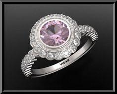#vidarjewelryArtfire on Artfire                     #ring                     #Gorgeous #Pink #Sapphire #Diamond #White #Gold #Engagement #Ring             Gorgeous Pink Sapphire And Diamond 14k White Gold Engagement Ring                                       http://www.seapai.com/product.aspx?PID=199253