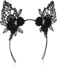 Lace Cat Ear Headband - Lyst-MIMI HOLLIDAY BY DAMARIS