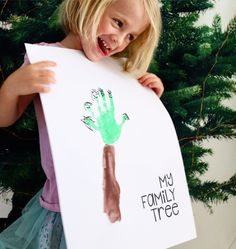 Free printable - family tree Handprint craft ideas for toddlers |handprint craft activities