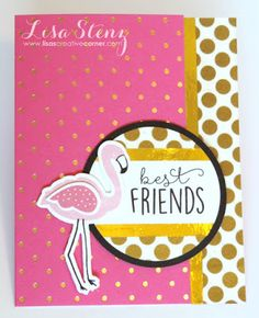 Lisa's Creative Corner: Tickled Pink Flamingo Card