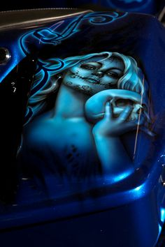 Blue Custom Top of Saddlebag