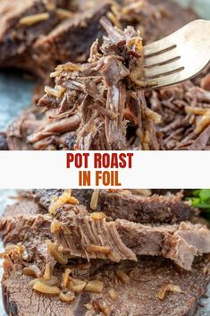 Beef Roast in Foil cooks in the oven wrapped in foil with only three ingredients and zero clean up. Moist, tender, and flavorful, it's the ultimate entree for family dinners or holiday parties. #weeknightdinner #beefrecipes #roastbeef #easyrecipe #comfortfoods Tender Chuck Roast, Chuck Roast In Oven, Oven Roast, Instant Pot Dinner Recipes, Pork Recipes For Dinner, Beef Recipes, Beef Tips, Holiday Parties, Pork Dishes