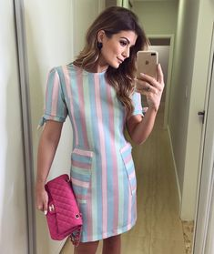 Shop sexy club dresses, jeans, shoes, bodysuits, skirts and more. Cute Fashion, Modest Fashion, Fashion Outfits, Simple Dresses, Casual Dresses, Casual Outfits, Midi Dress With Sleeves, Short Sleeve Dresses, Look Star