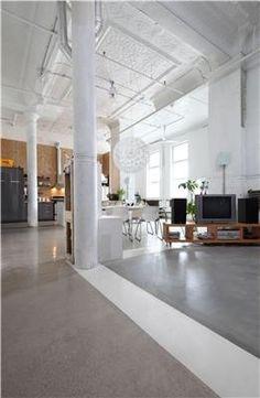 painted divide concrete floor
