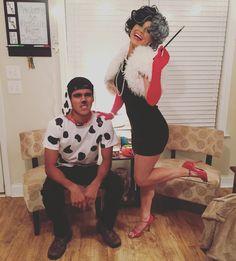 My DIY Cruella De Vil & Her Dalmation Costume for Halloween 2015!