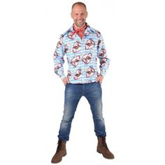 Déguisement chemise tyrolienne Alm Hirsh homme luxe