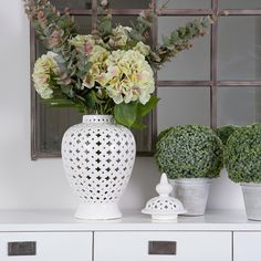 Sharing our Interior Obsession. Shop Online for beautiful home accessories and seasonal gifts. Cottage Kitchens, Faux Flowers, Large White, Happy Mothers Day, Pillar Candles, Home Accessories, Beautiful Homes, Glass Vase, Jar