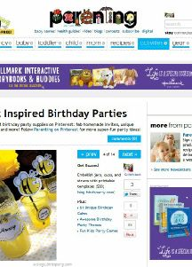 best Kids Birthday Parties as seen on Parenting.com by BItrd's Party