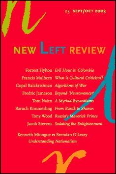#NLR: FREDRIC JAMESON:  FEAR AND LOATHING IN GLOBALIZATION