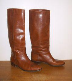 vintage flat riding boots