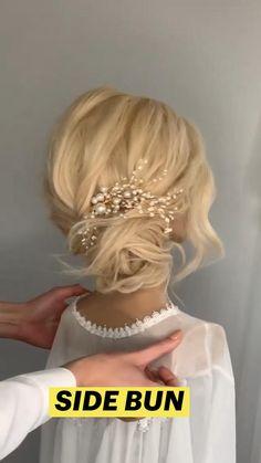 Hair Tips Video, Hair Videos, Bridesmaid Hair Updo, Prom Hair, Hair Wedding, Medium Hair Styles, Long Hair Styles, Bridal Hair Buns, Hair Upstyles