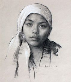 Scott Burdick - Karla with White Scarf