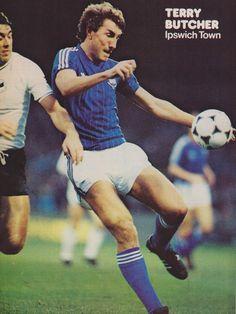 Terry Butcher 1982 Ipswich Town Fc, Football Memorabilia, Retro Football, Swansea, Tractor, Legends, Soccer, Club, Baseball Cards
