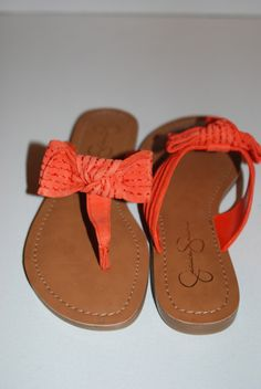 Jessica Simpson Leather Bow Sandals