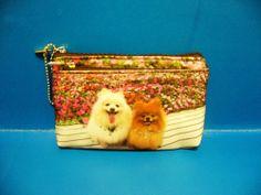 Dog Puppy Pet Pomeranian Coin MP3 MP4 Bag Purse BAG221 NEW