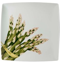 Asparagus charger plate