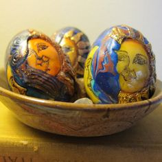 Celestial Sun Moon Decorative Eggs