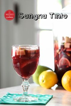 Sangria Tinto - Classic red sangria done right! You can't go wrong with this recipe.
