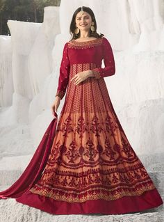 5aeb08e81d Buy Prachi Desai Maroon Designer Anarkali Suit Online - Best Quality–Liinara