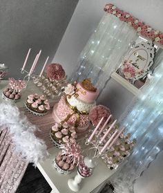 Nişan is sour- Nişan masam Nişan is sour & Feiern # sour # Nisan - Quinceanera Decorations, Bridal Shower Decorations, Birthday Party Decorations, Birthday Parties, Wedding Decorations, Quince Invitations, Pink Invitations, Desert Table, Engagement Decorations