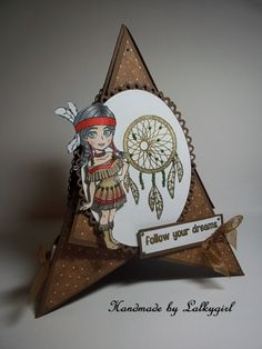 a tepee card using visible image stamp sets .