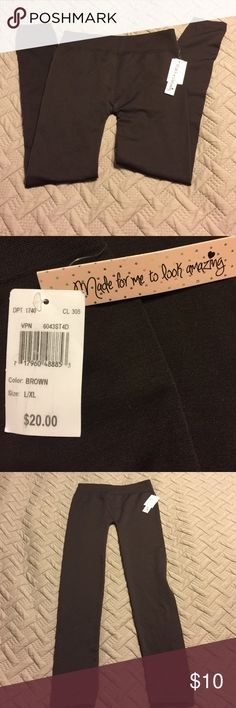 NWT Lined Tights Brown L/XL Brand new with tags! Ladies brown tights are lined for added warmth and comfort. Size large / extra large. Clean smoke free home. 92% polyester 8% spandex. Made for Me to Look Amazing Pants Leggings