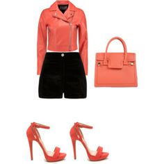 Coral Look by me -Polyvore