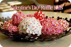 Make Valentine's Day Ruffle Balls -- Tatertots and Jello #DIY #Valentines