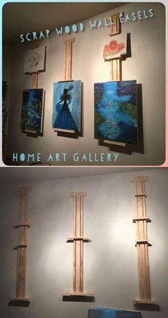 art studio Adjustable wall easels for rotating art work. Art Studio Storage, Art Studio Room, Art Studio Design, Art Studio Organization, Art Studio At Home, Art Storage, Painting Studio, Home Art, Studio Studio