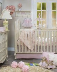 Cottage Rose Crib Set by Glenna Jean.  Beautiful baby bedding for your baby girls room.