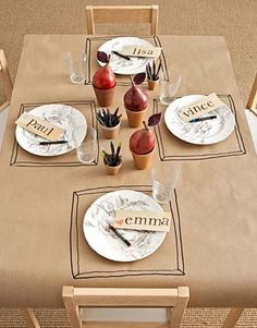 Kraft paper as table cloth