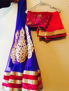 Royal blue lehenga with pink blouse n pink duppatta. Price : Rs. 5500.00 Contact: 9975616238
