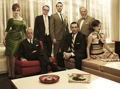 """The """"Mad Men"""" Season Five Photo Shoot. The way they're positioned"""