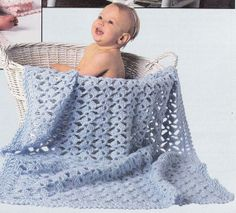 Baby Afghan Crochet Patterns  Just for Me 12 por PaperButtercup, $6.50